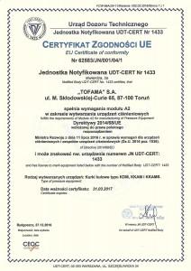 Certyfikat Kurki-(UDT)